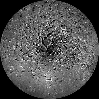 The Moon's north pole during summer.
