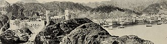 Muscat - A view of Muscat ca. 1902