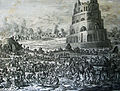 The Phillip Medhurst Picture Torah 70. Building the Tower of Babel. Genesis cap 11 v 2. Jan and Caspar Luyken.jpg