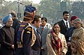 The President, Smt. Pratibha Devisingh Patil, the Chief Guest President of France, Mr. Nicolas Sarkozy and the Prime Minister Dr. Manmohan Singh arrive for the 59th Republic Day Parade-2008, in New Delhi on January 26, 2008.jpg