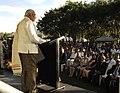 The Prime Minister, Shri Narendra Modi addressing at the programme to unveil statue of Mahatma Gandhi, at Roma Street Parkland, in Brisbane, Australia on November 16, 2014 (1).jpg