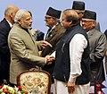 The Prime Minister, Shri Narendra Modi with the Prime Minister of Pakistan, Mr. Nawaz Sharif, at the 18th SAARC Summit, in Nepal on November 27, 2014 (1).jpg