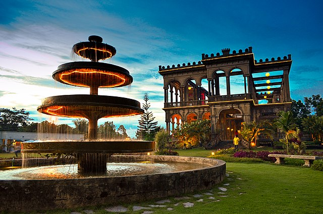 3rd place: The Ruins of the Mariano Ledesma Lacson Mansion in Talisay, Negros Occidental at dusk, by Ninya Regalado