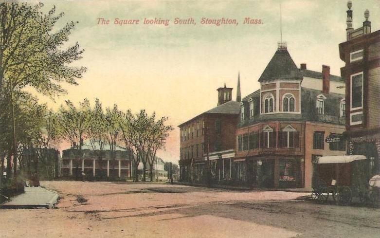 The Square Looking South, Stoughton, MA