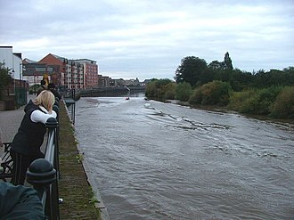 Gainsborough, Lincolnshire - The Aegir (tidal bore) on the Trent
