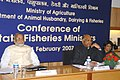 The Union Minister of Consumer Affairs, Food and Public Distribution and Agriculture, Shri Sharad Pawar delivering the keynote address at the Conference of State Ministers of Fisheries, in Delhi on February 24, 2007.jpg