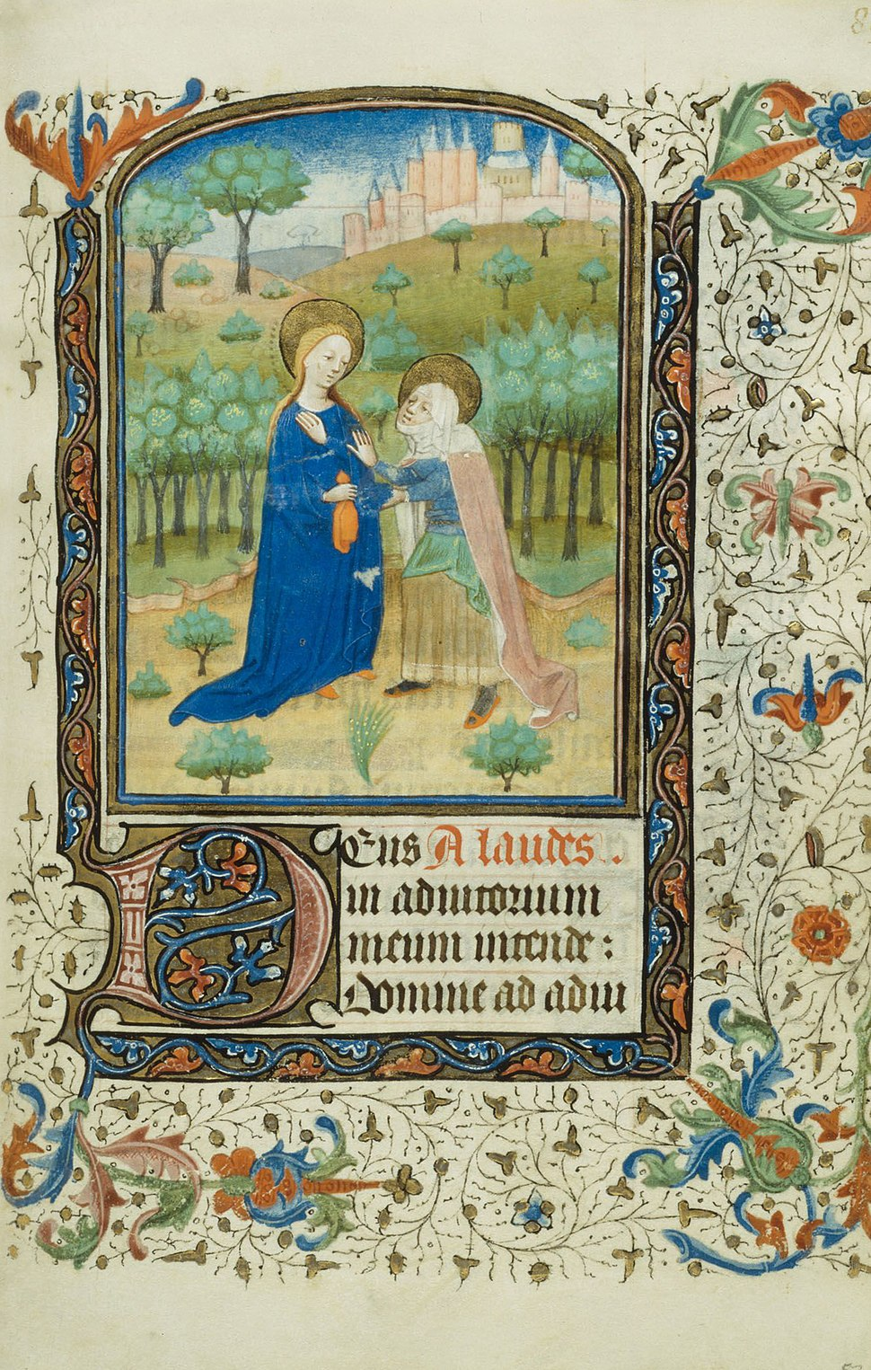 The Visitation, from a Book of Hours, 1440-45