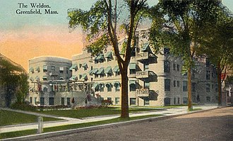 Greenfield, Massachusetts - The Weldon Hotel in 1913
