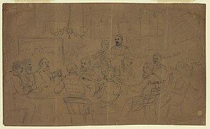 Court-martial of Fitz John Porter - The court-martial of Fitz John Porter sketched by Alfred Waud