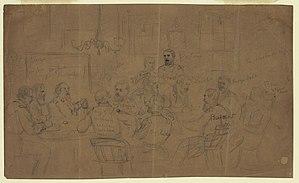 Court-martial of Fitz John Porter - The court-martial of Fitz John Porter sketched by Alfred Waud