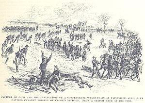 Battle of Amelia Springs - Davies captures the wagon train