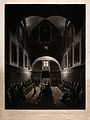 The interior of a Capuchin monastery, with monks at their de Wellcome V0035751.jpg