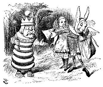 The king from Through the Looking-Glass, and What Alice Found There