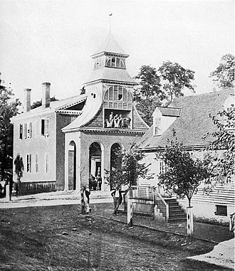 Culpeper, Virginia - Culpeper Courthouse under the Confederate rule, August 1862