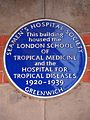 This building housed the London School of Tropical Medicine and the Hospital for Tropical Diseases 1920-1939.jpg
