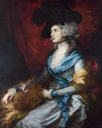 Sarah Siddons - 1785 portrait by Thomas Gainsborough