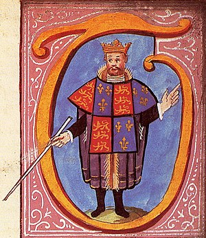 Tabard - Thomas Hawley, Clarenceux King of Arms, depicted in his tabard on a grant of arms of 1556