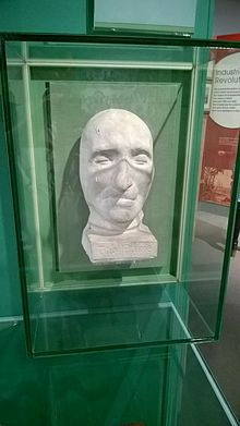 thomas paine  paine s death mask in the people s history museum in manchester