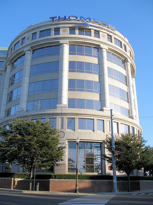 Thomson Reuters Building in Downtown Stamford, Connecticut. The office previously served as the world headquarters for The Thomson Corporation Thomson Corporation headquarters.jpg