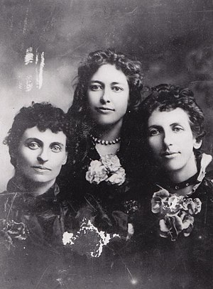 Cherry Sisters - Three of the Cherry Sisters siblings portrait.