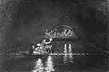 Tidal wave, men in boat sawing the timber (G J Stodart 1887).jpg