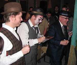 The Tiger Lillies - The band after a concert