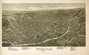 Titusville, Pennsylvania - Titusville in 1896, by Thaddeus Mortimer Fowler