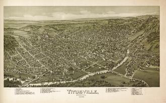 Titusville, Pennsylvania - Titusville in 1896, by Thaddeus Mortimer Fowler