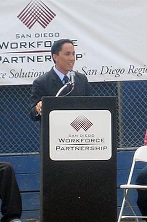 Todd Gloria - Council Member Todd Gloria speaking at a San Diego Workforce Partnership function