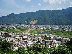Chikuma, Nagano - View of downtown Chikuma and Togura-Kamiyamada Spa