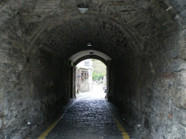 Tolbooth Wynd leads off the Royal Mile - geograph.org.uk - 999805
