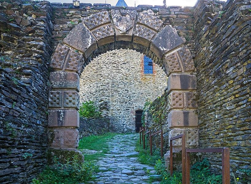 Portal of the Esch-sur-Sûre Castle. It originates from the house Flesch in Esch-Sauer.