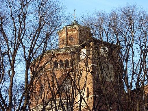 Torino, Chiesa della Madonna della Salute, lato su via Chiesa (Fab18 mar16)