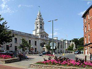 Torbay - Torquay Town Hall, the home of Torbay Council