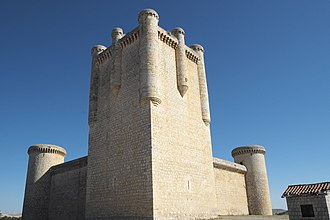 Gothic secular and domestic architecture - Torrelobatón castle in Spain, begun 1406