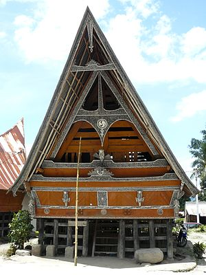 Batak architecture - Image: Traditional Batak house