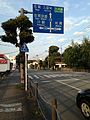 Traffic sign south of Kajiyamachi Crossing of Fukuoka Prefectural Roads No.770, 766 & 702.jpg