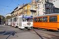 Tram in Sofia near Central mineral bath 2012 PD 025.jpg