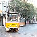 Tram in Sofia near Palace of Justice 2012 PD 004.jpg