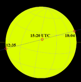 Transit of Mercury November 11 2019 path across sun.png