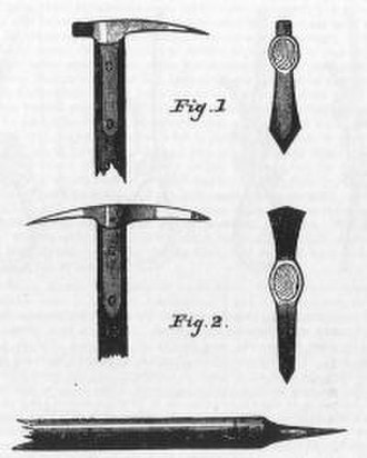 Ice axe - An 1872 diagram of ice axe design.