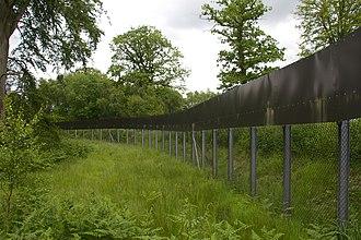 Trentham Estate - The fence around Trentham Monkey Forest