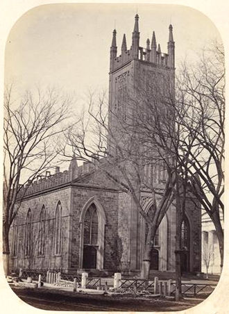 Trinity Church on the Green - Trinity Church c. 1865, showing its original appearance