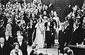 Troonswisseling 30 april , Nieuwe Kerk Koningin Beatrix en Prins Claus tijdens, Bestanddeelnr 930-8043.jpg