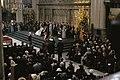 Troonswisseling 30 april inhuldiging in Nieuwe Kerk zeer ruim overzichtligg, Bestanddeelnr 253-8200.jpg