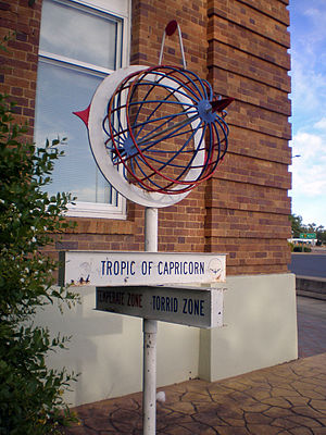 Tropic of Capricorn - Longreach, Queensland, Australia