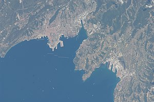 Slovene Riviera - Satellite image of Trieste and its gulf