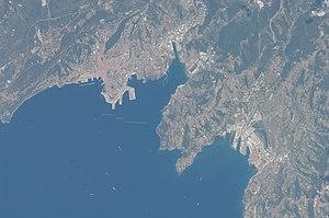 Slovene Riviera - Satellite image of Trieste and its gulf