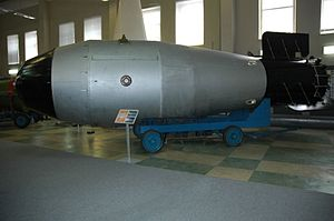 "Sarov - Model of the ""Tsar Bomba"" in the Sarov atomic bomb museum"