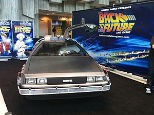 Back to the Future: The Game - Telltale Games promoted the series at the 2010 Penny Arcade Expo in Seattle by bringing along a replica of the time machine from the films.